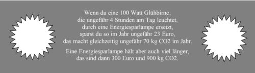 Energiesparlampen - Berechnung
