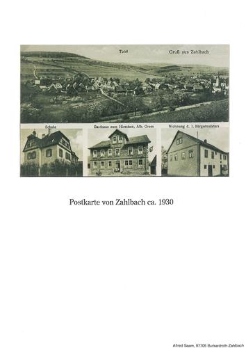 Bild:Postkarte Zahlbach 1930
