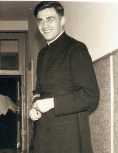 Pfarrer Hübner am Tag seiner Primiz